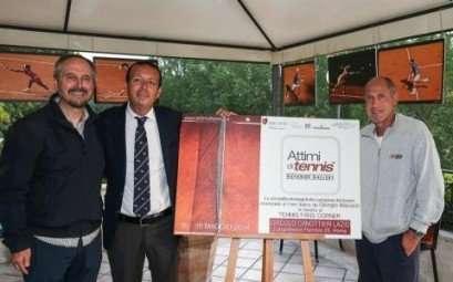Presentazione della mostra 'Attimi di tennis' al Circolo Canottieri Lazio
