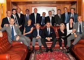 La dirigenza del Circolo Canottieri Lazio