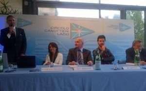 Myriam Caroleo Grimaldi al Circolo Canottieri Lazio