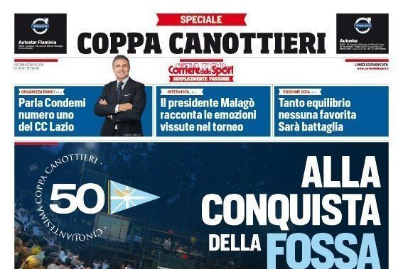 Speciale del Corriere dello Sport sulla Coppa dei Canottieri 2014