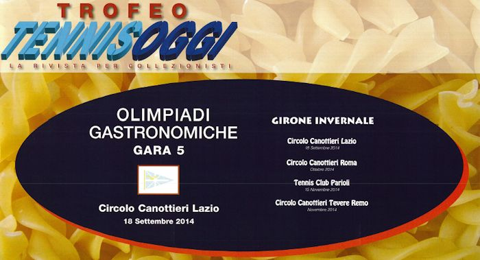 locandina Olimpiadi Gastronomiche - gara 6