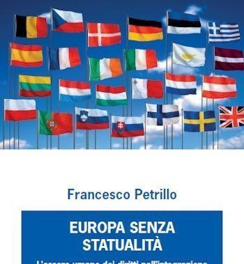 copertina del libro Europa senza statualità di Francesco Petrillo