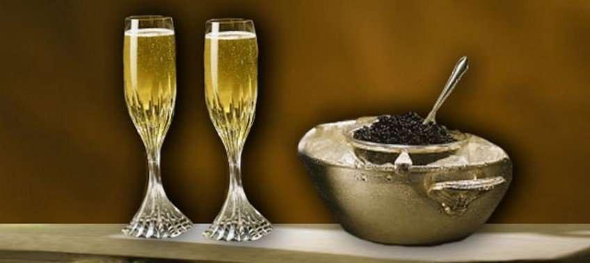 Cena caviale e champagne CCLazio