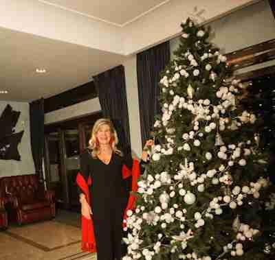 Donatella Visconti durante la cena di Natale 2014 al Circolo Canottieri Lazio