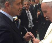 Il presidente del CCLazio, Raffaele Condemi, in udienza dal Papa