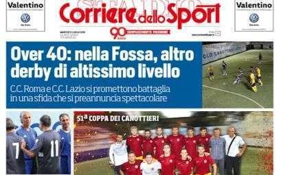 Copertina Corriere dello Sport per le Finali della Coppa dei Canottieri 2015 di calcio a 5
