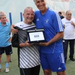Finali Coppa Canottieri 2015 - Il Presidente del CONI Giovanni Malagò premia Maucci del CCLazio come miglior portiere categoria Over 60