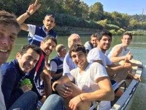 La squadra del CCLazio alla Coppa Tevere 2017 di Canottaggio
