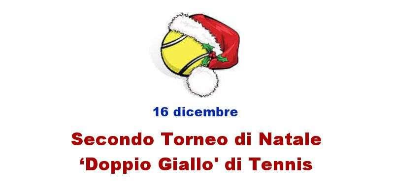 """Torneo di Natale """"Doppio Giallo"""" di Tennis al Circolo Canottieri Lazio"""