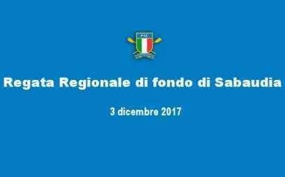 Canottaggio - Regata regionale di fondo a Sabaudia del 3 dicembre