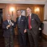 Il Maestro Stelvio Cipriani con il Presidente e il Vice Presidente del Circolo Canottieri Lazio
