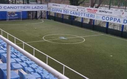 Il campo di calcetto del Circolo Canottieri Lazio