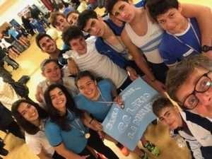 La squadra del Circolo Canottieri Lazio ai Campionati Regionali Remoergometro 2018