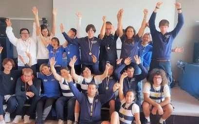 Gara di Indoor Rowing a Sarzana con gli atleti Special Olympics del Circolo Canottieri Lazio