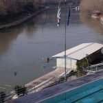 Il galleggiante del Circolo Canottieri Lazio