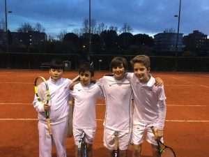 Squadra di Tennis under 12 del Circolo Canottieri Lazio