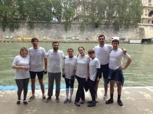 La squadra di canottaggio del Circolo Canottieri Lazio alla Coppa Anellone 2018