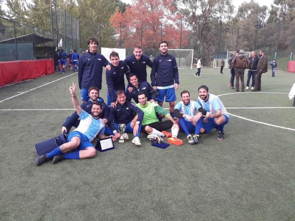 La squadra del CC Lazio vincitrice della Coppa CT EUR di calcio a 5