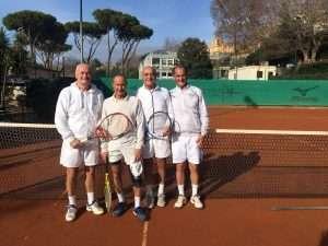 Torneo di tennis doppio giallo al Circolo Canottieri Lazio