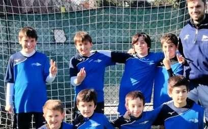 La squadra pulcini di calcio a 5 del Circolo Canottieri Lazio