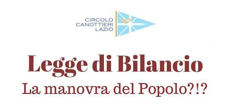 Convegno sulla Legge di Bilancio al Circolo Canottieri Lazio