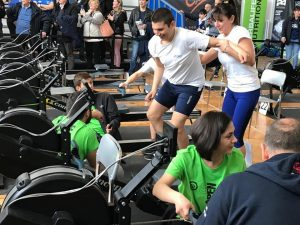 La squadra Special Olympics del CCLazio ai Campionati italiani di Indoor Rowing 2019
