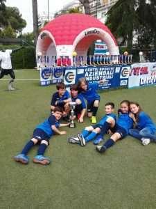 La squadra di calcio a 5 pulcini del Circolo Canottieri Lazio