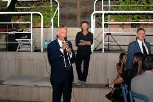 Il Presidente Paolo Sbordoni alla festa dell'Estate 2019 al Circolo Canottieri Lazio