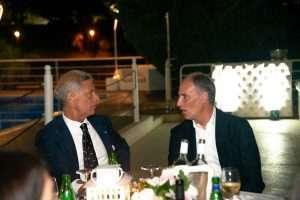 Presidente e Vice Presidente alla festa dell'Estate 2019 al Circolo Canottieri Lazio