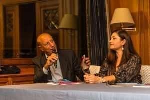 Pippo Franco alla presentazione del libro di Emanuela del Zompo al Circolo Canottieri Lazio
