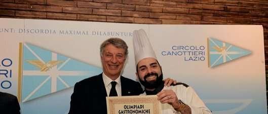 Il Presidente del CCLazio Paolo Sbordoni con lo chef Settimio Scacco