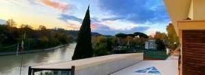 Il fiume Tevere visto dal Circolo Canottieri Lazio