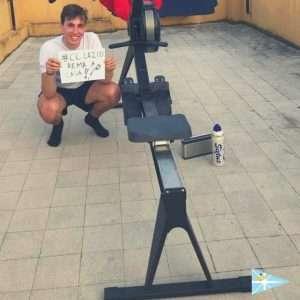 Gli atleti della scuola di Canottaggio del Circolo Canottieri Lazio