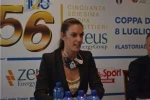 Gabriella Bascelli alla conferenza stampa di presentazione della Coppa dei Canottieri 2020 di calcio a 5