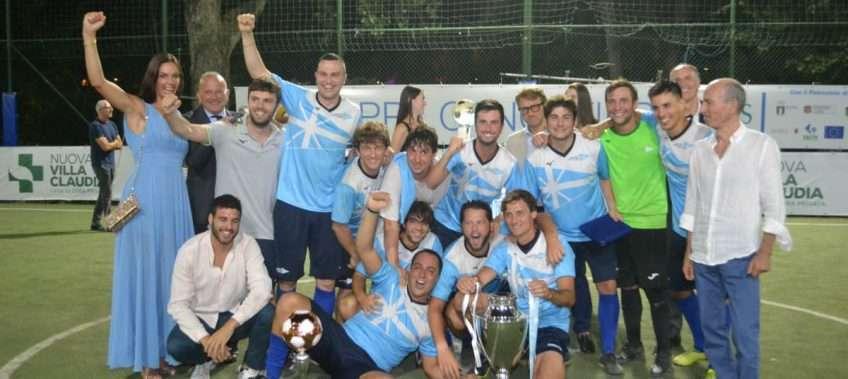 La squadra del CCLazio vincitrice della Coppa dei Canottieri 2020 categoria Assoluti