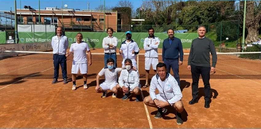 La squadra di serie C di tennis del Circolo Canottieri Lazio