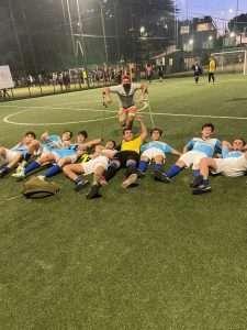 La squadra under 19 di calcio a 5 del Circolo Canottieri Lazio vincitrice del torneo Futsal Game