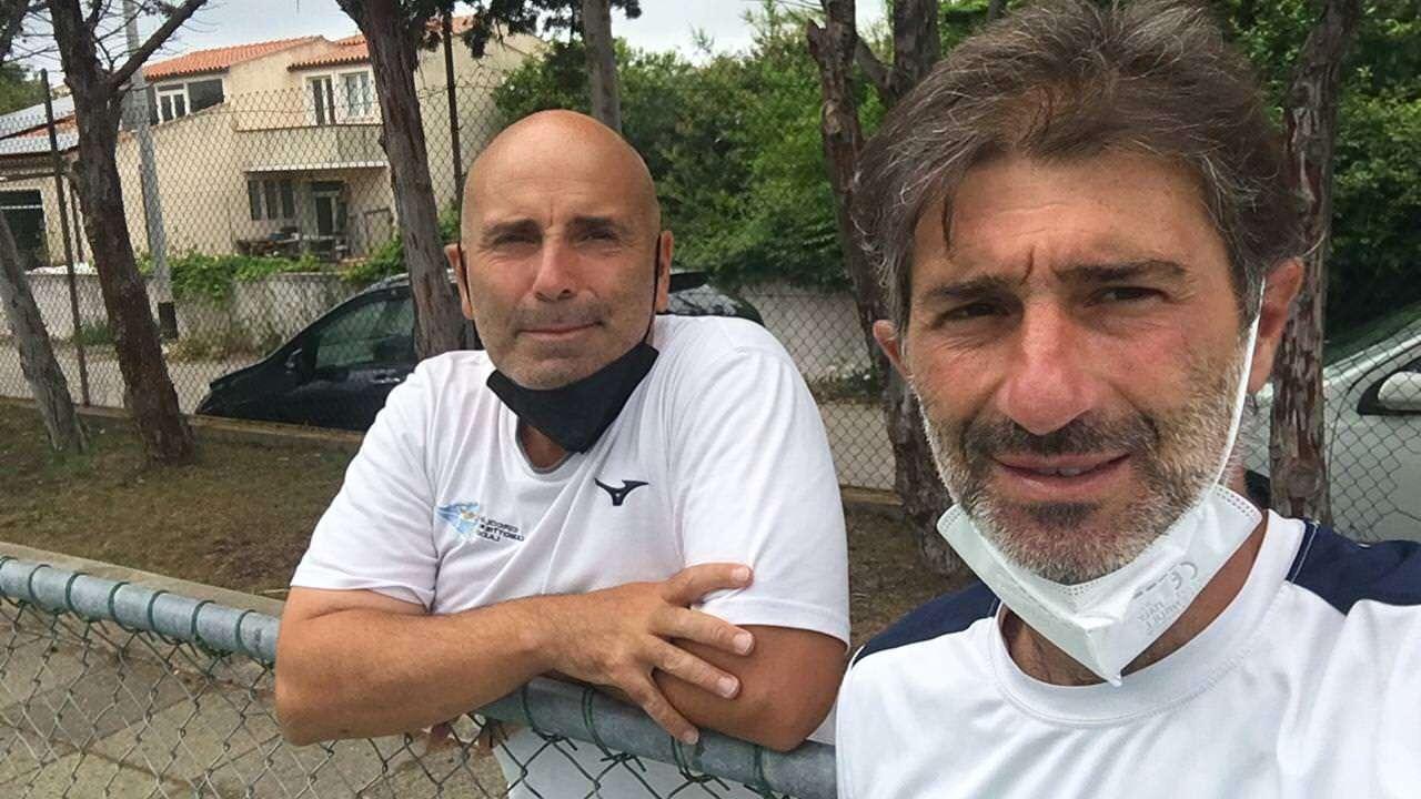 I Maestri di tenni Massimo Frendo e Cristian Cantagalli del CCLazio