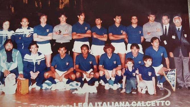 Giovanni Malagò nella nazionale di calcio a 5 1982