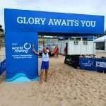 Luca dell'Elice nella Finale B del Campionati del Mondo di Coastal Rowing